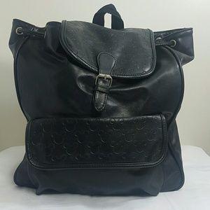 Disney Black Leather Book Bag